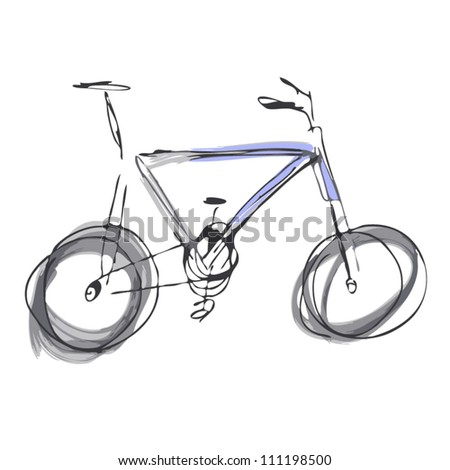 Two-tone mountain bike. Vector - stock vector