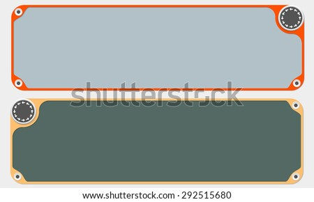 Two vector frames for your text and arrows - stock vector