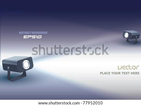 Two Vector Projectors - stock vector