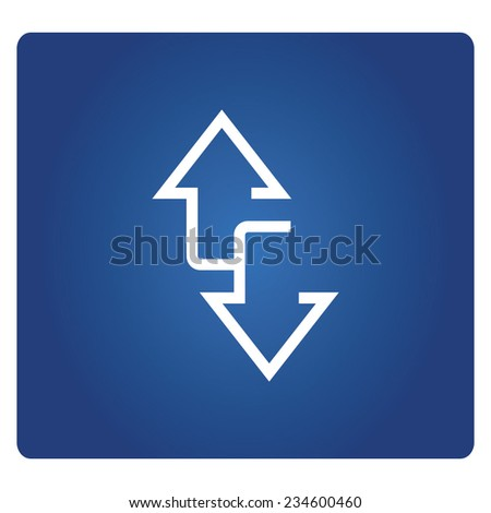 two way arrows, up and down arrow signs - stock vector