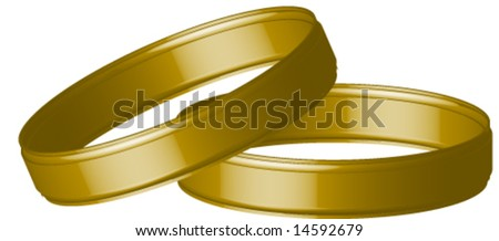 Two wedding bands. - stock vector