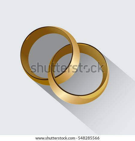Two Wedding Rings Symbol Love Stock Vector Hd Royalty Free