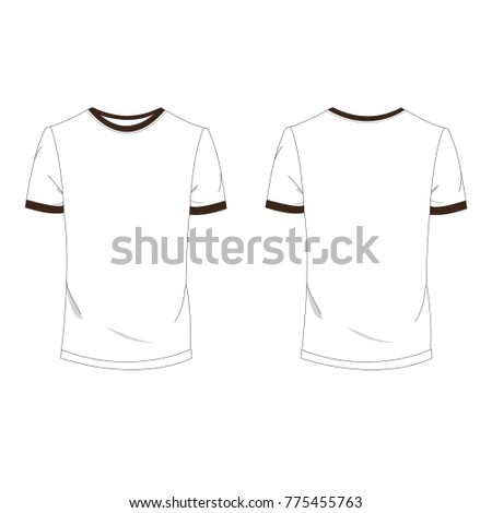 Twotone Brown White Tshirt Template Using Stock Vector 775455763 ...