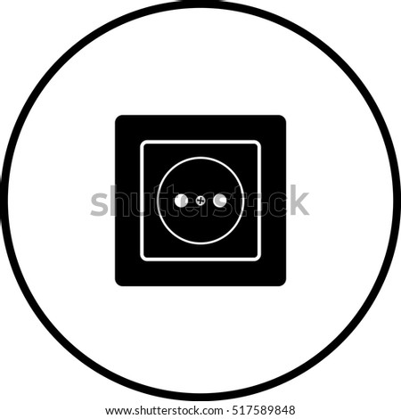 Grounded Power Outlets Symbol Stock Vector 4906750 - Shutterstock