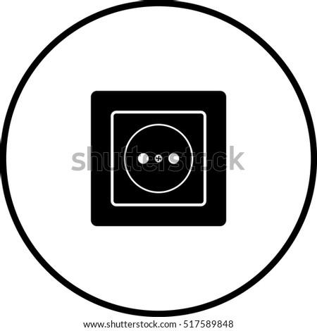 Grounded Power Outlet Stock Vector 4092232 Shutterstock