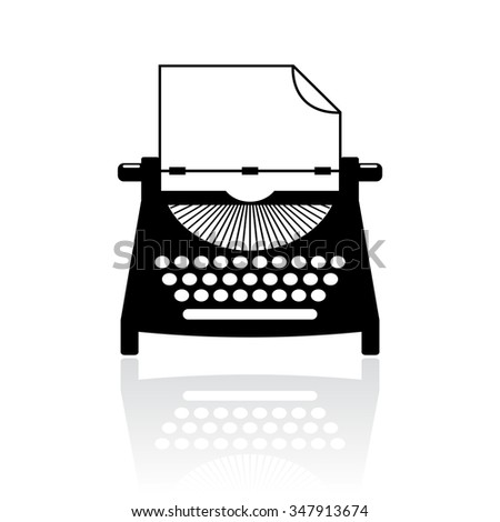 Type writer icon vector illustration isolated on white background - stock vector