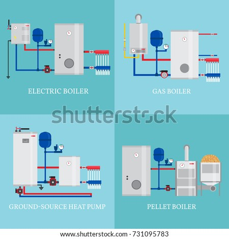 Pellets vector stock images royalty free images vectors for Types of gas heating systems