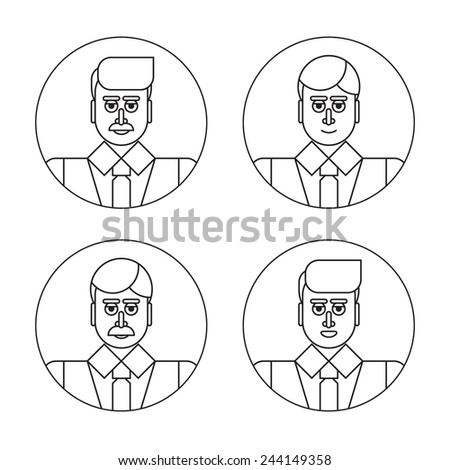 types of managers - stock vector