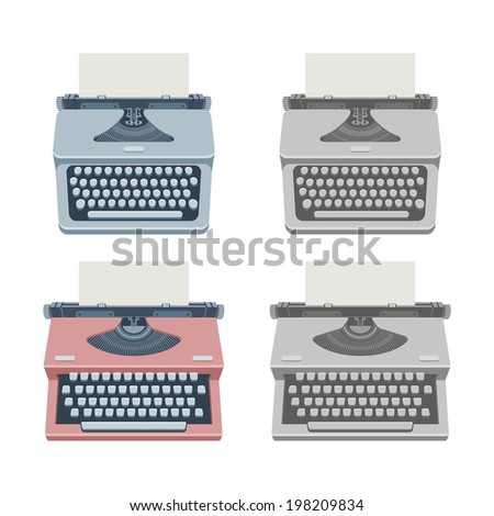 typewriter - stock vector