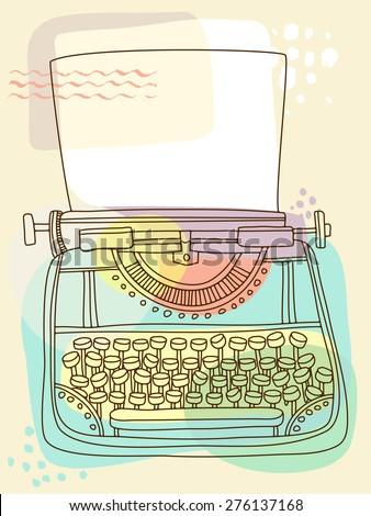 Typewriter - stock vector