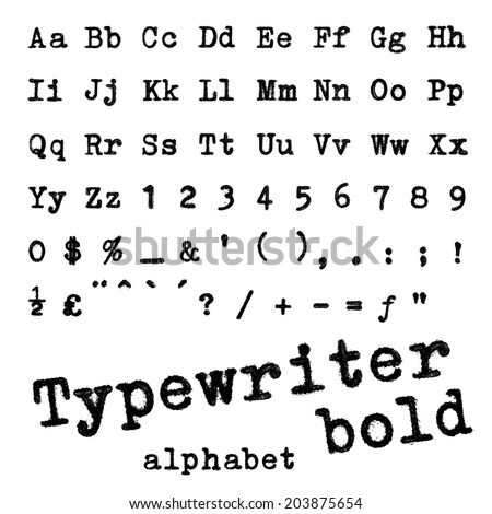 Typewriter alphabet