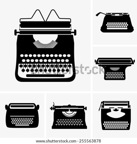 Typewriters - stock vector