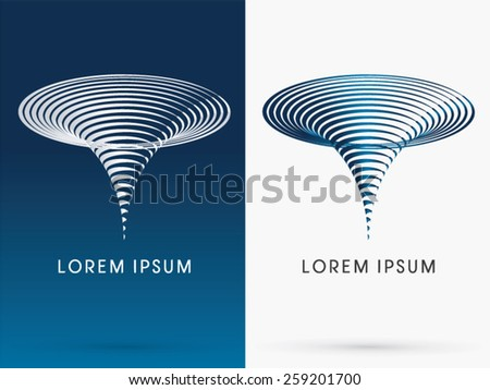 Typhoon,Tornado, Storm, designed using line cycle shape, logo, symbol, icon, graphic, vector. - stock vector