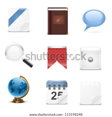 typical web vector icons - stock vector