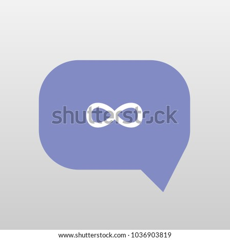 Typing Chat Bubble Icon Illustration Isolated Stock Vector