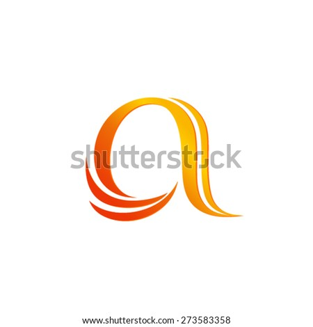 Typographic logo template Letter a logo template - stock vector