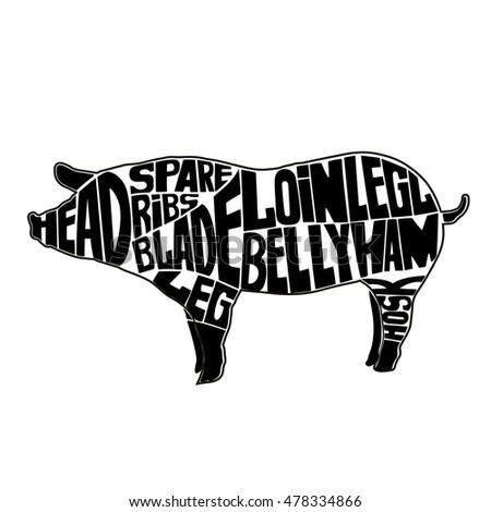 371 together with Pig Pork Cutting Scheme Craft Vector 14001718 moreover Pig Diagram moreover 77827899789081746 moreover 361554676305263562. on hog meat cuts