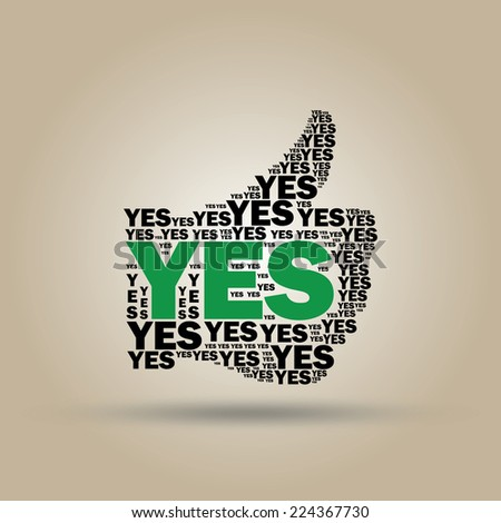 "Typographic sign ""YES"" - stock vector"