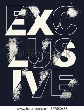 Typography and tee shirt graphics, vectors