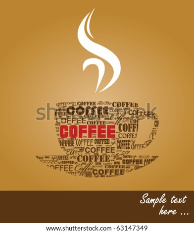 typography coffee - stock vector