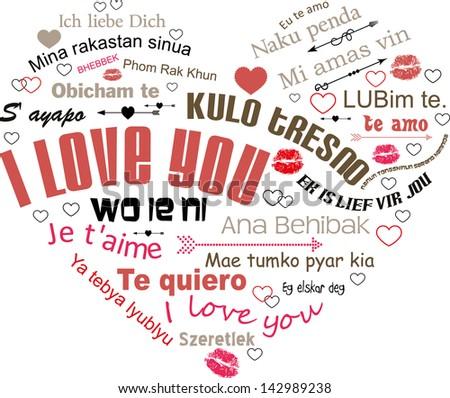Typography love - stock vector