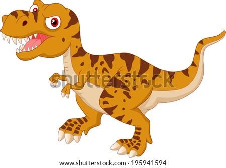 Tyrannosaurus cartoon - stock vector