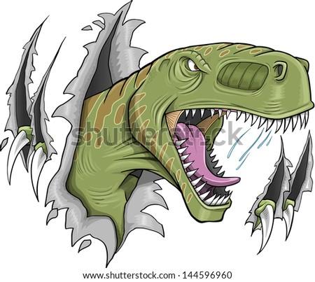 Tyrannosaurus Rex Dinosaur Vector Illustration - stock vector