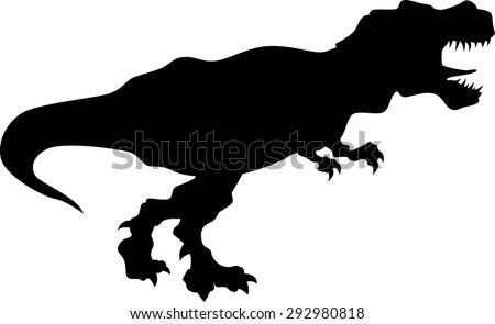 Tyrannosaurus Rex silhouette - stock vector
