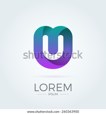 Letter Abstract ...U Logo Images