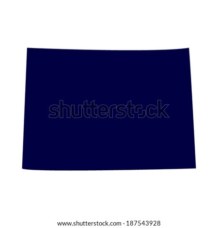 U.S. state of Colorado on the map  - stock vector