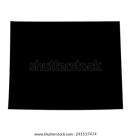 U.S. state on the U.S. map Wyoming  - stock vector