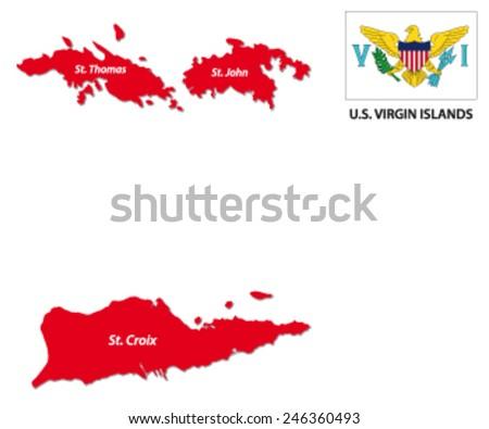 Us Virgin Islands Stock Images RoyaltyFree Images Vectors - Map of us and us virgin islands