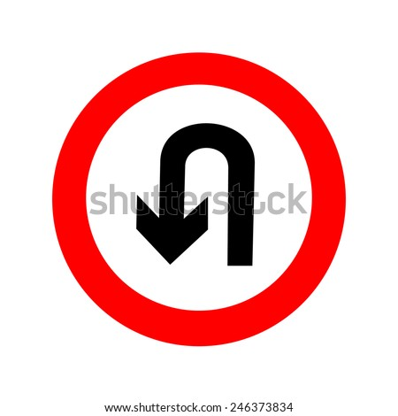 U Turn Sign Stock Images, Royalty-Free Images & Vectors ...