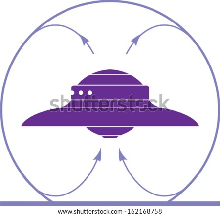Ufo circulation - stock vector