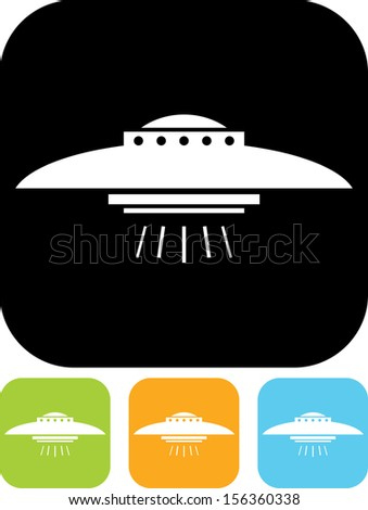 UFO vector icon - stock vector