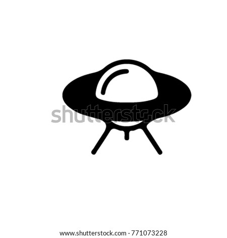 ufo vector icon. space symbol