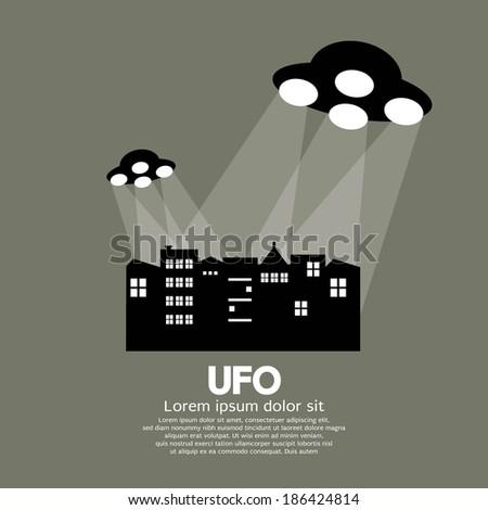 UFO Vector Illustration - stock vector