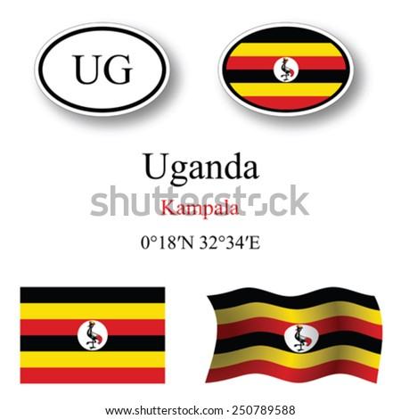 uganda set against white background, abstract vector art illustration, image contains transparency - stock vector