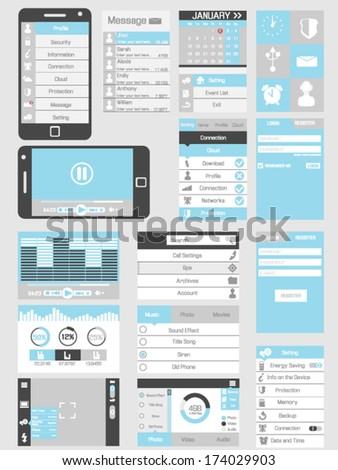 UI FLAT DESIGN  COLLECTIONS 2