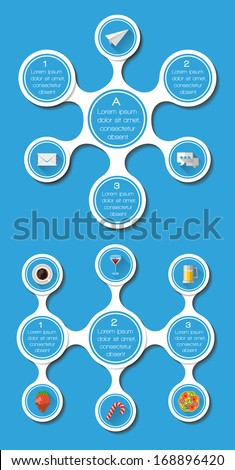 Ui, infographics and web elements including flat design. Vector illustration.  - stock vector