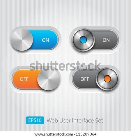Ui sliders set - stock vector