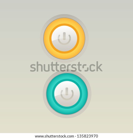 UI switch button (On/Off) - stock vector