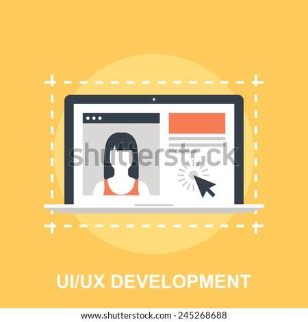 UI UX Development - stock vector