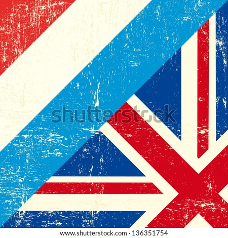 UK and luxembourg grunge Flag.. this flag represents the relationship  between UK and luxembourg