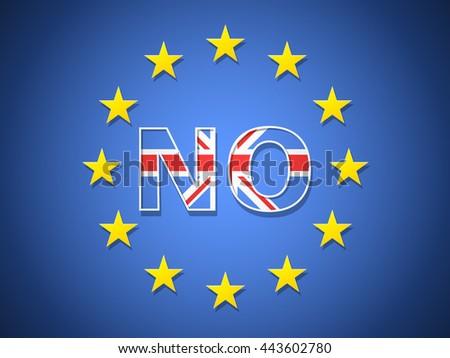 UK Brexit EU - stock vector