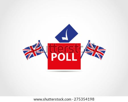 UK Britain Ballot Box Voting - stock vector