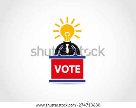 UK Britain Brilliant Politician Policy - stock vector
