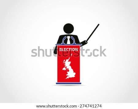 UK Britain Elections Institution Analyze - stock vector