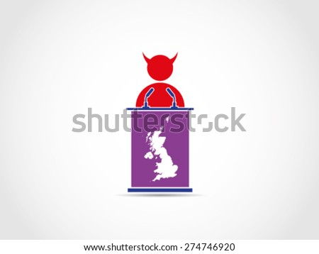 UK Britain Evil Bad Corrupt Supporter - stock vector