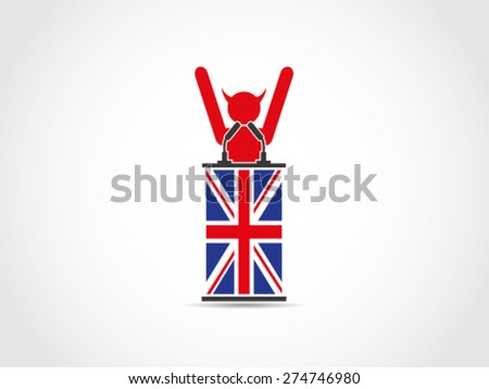 UK Britain Evil Public Celebration - stock vector